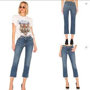 GRLFRND Tatum Mid Rise Frayed Hem Jeans 31